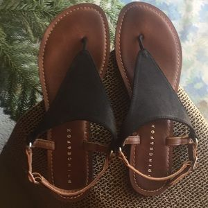 Black and Tan sandals 8.5